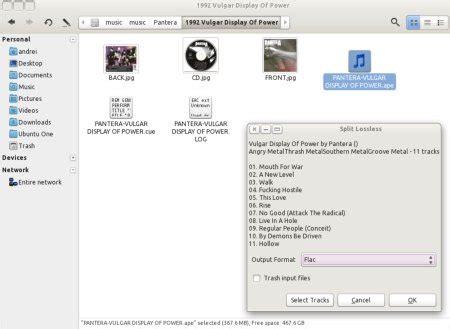 cortar archivos de audio split lossless un script de nautilus para cortar archivos