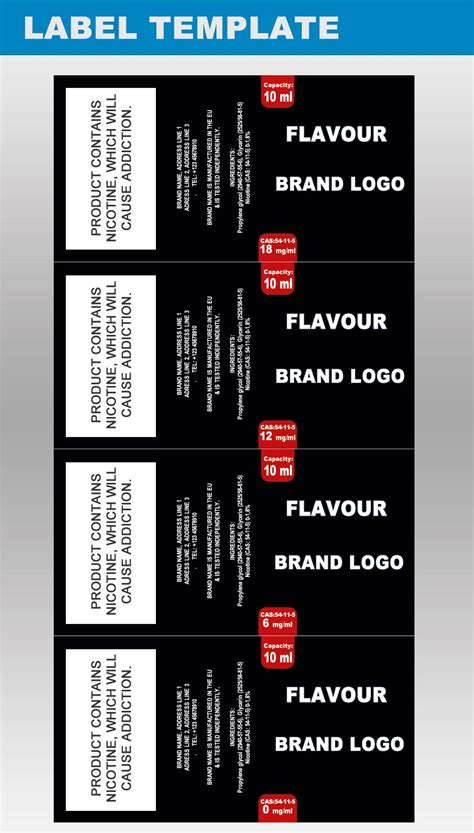 Design Packaging Templates For E Juice Labels Ejuicemanufacturers Com E Juice Label Template