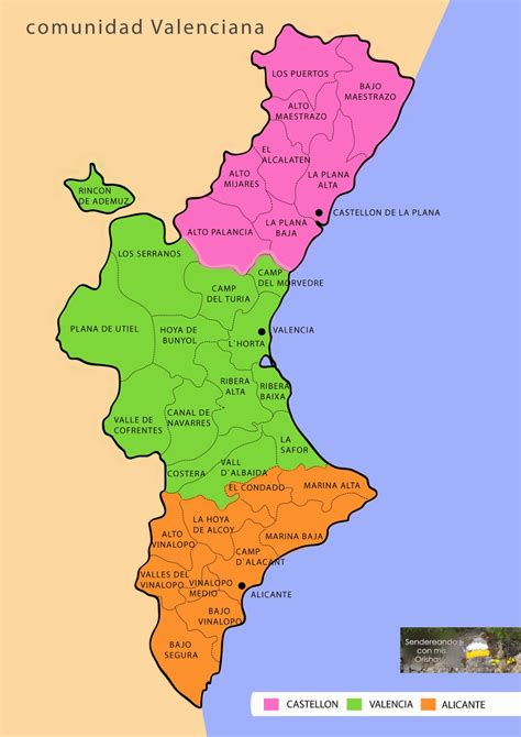 valencia y comunidad valenciana 8497760484 mapa comunitat valenciana threeblindants com
