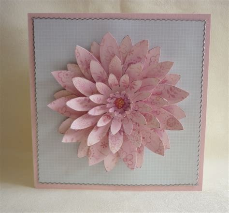 Layered Flower Card Template by Layered Flower Cards Mementoes In Time