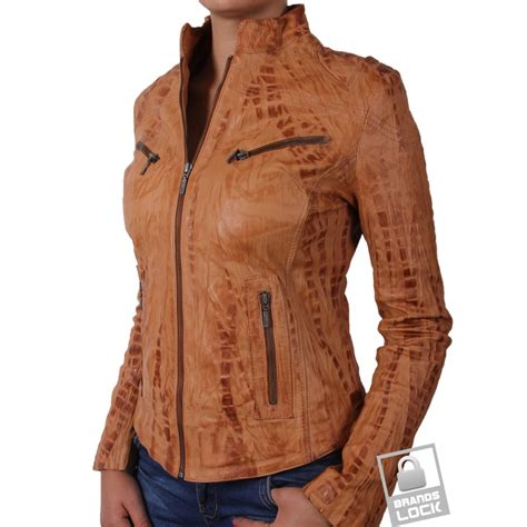 ladies brown biker ladies light brown leather jacket www pixshark com