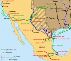 and the mexican war map mexican war chronology of events and battles