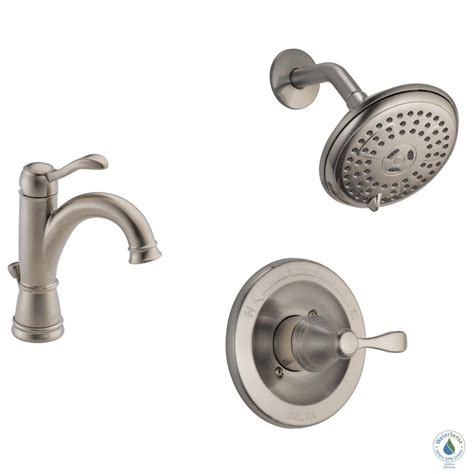 delta brushed nickel kitchen faucet delta porter 4 in centerset single handle bathroom faucet