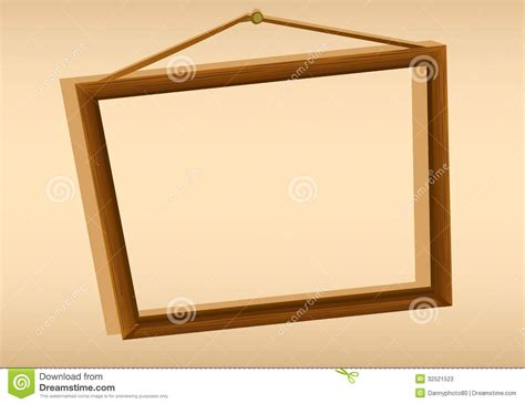 hanging a frame a wooden hanging frame stock photos image 32521523