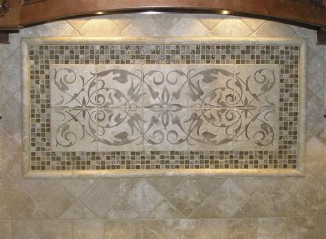 tile backsplash patterns elegant kitchen backsplash mural ideas featuring marble