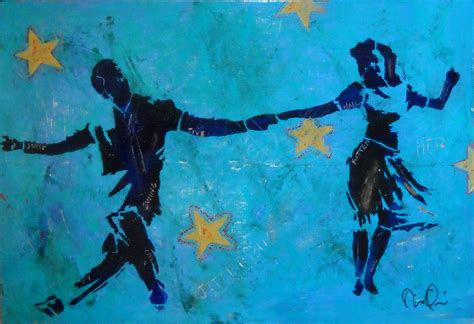 swing dance art stencil paintings diana quinn mixed media art