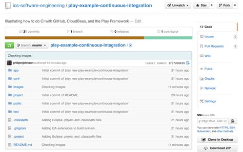 layout it source code github play exle continuous integration
