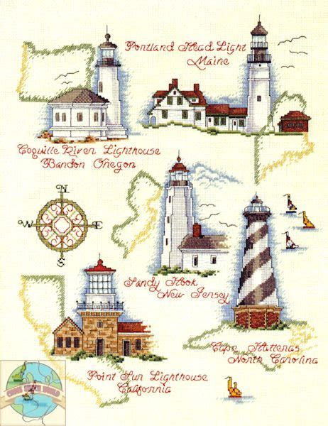 264 best cross stitched lighthouses images on pinterest 17 best images about x stitch ocean scenes on pinterest