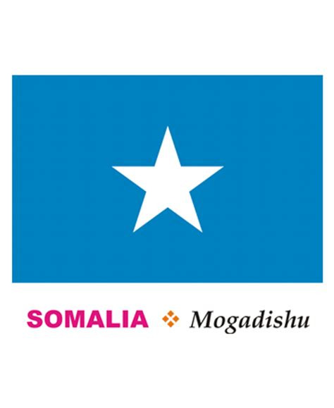 somalia flag coloring pages for kids to color and print