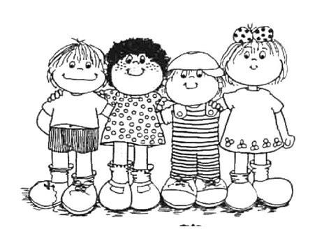 imagenes de niños jugando en grupo para colorear dibujos de ni 241 os para colorear colorear im 225 genes