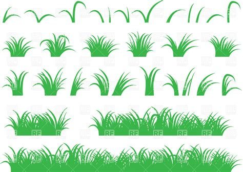 eps clipart green grass design elements vector image of plants and