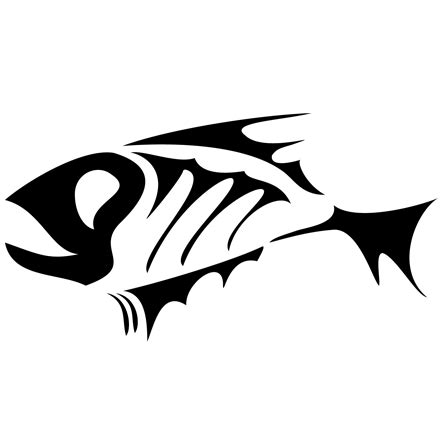 pin fish logo decal on pinterest