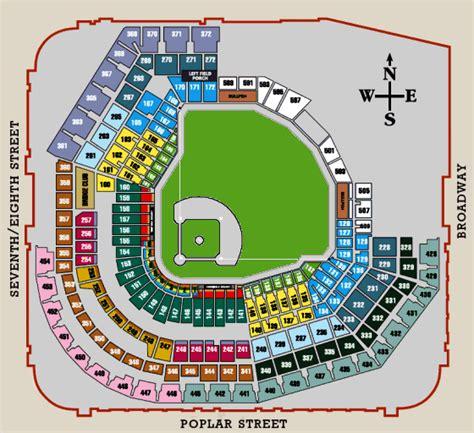 detailed seat map of busch stadium busch stadium interactive seating chart images