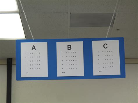 printable ca dmv eye chart dmv eye charts 105 365 the same eye chart is hanging