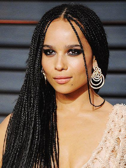 zoe kravitz small braids 11 so pretty braids to up your festival hair game yess