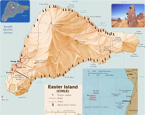 world map easter island easter island chile map