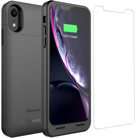 iphone xr battery with qi wireless charging compatibility alpatronix bxxr 6 1 inch 5000mah