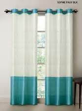 Cream Striped Curtains Striped Turquoise And White Curtain Curtains Pinterest