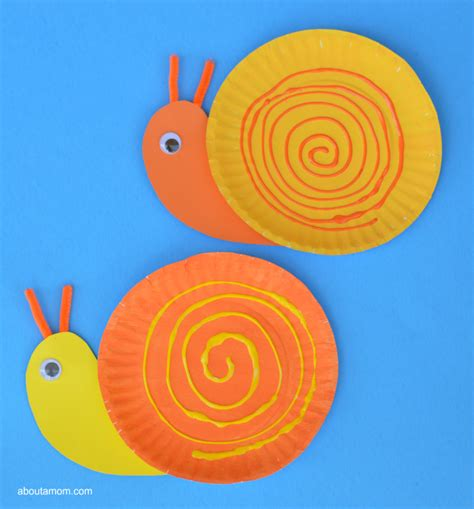 Snail Paper Plate Craft - pape plate snail craft for about a
