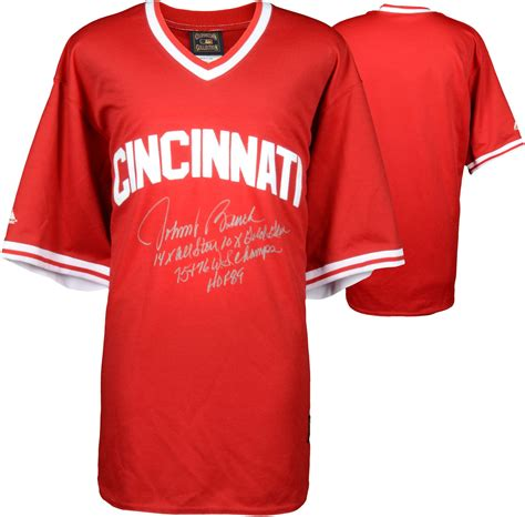 johnny bench jersey johnny bench cincinnati reds autographed red throwback jersey with multiple