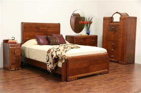 art deco 1935 waterfall full size 4 pc bedroom set ebay sold art deco waterfall 1935 queen size 4 pc bedroom