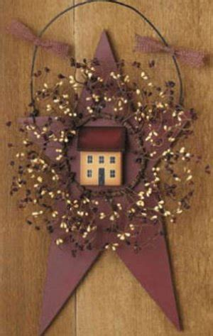 country stars decorations for the home primitive country barn star saltbox house pip berry wreath