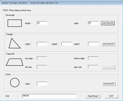 how to calculate dimensions from square feet square footage calculator 1 0 screenshot freeware files com