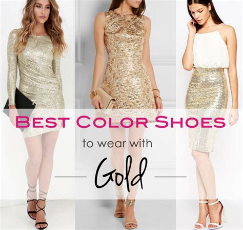get golden what color shoes to wear with a gold dress or