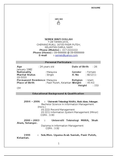 contoh format resume contoh resume yang lengkap