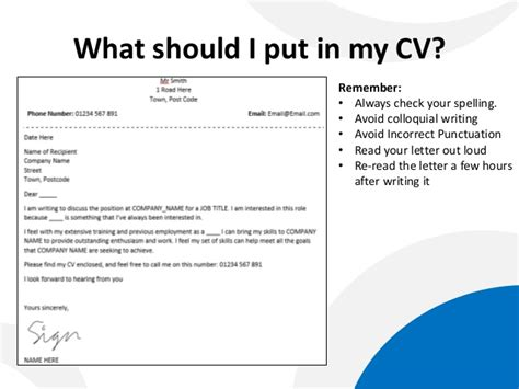 what should i put on a cover letter 2 to cv director