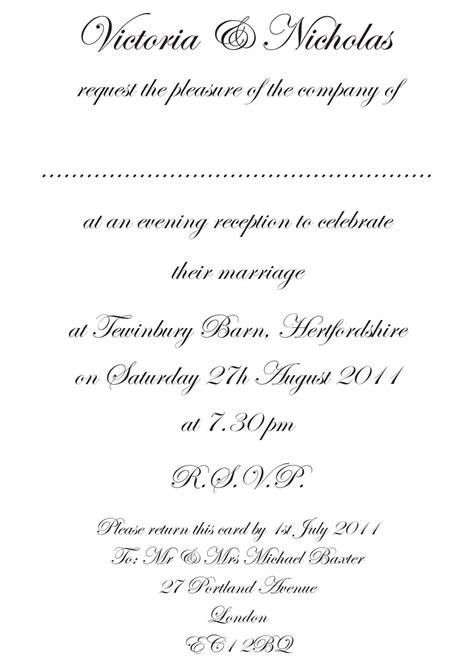 wedding invitation wording template formal wedding invitation templates ipunya