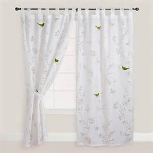 Curtains With Bird Pattern White Bird Botanical Sheer Burnout Curtain