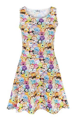 Tsum Tsum Satin Dress disney discovery tsum tsum skater dress