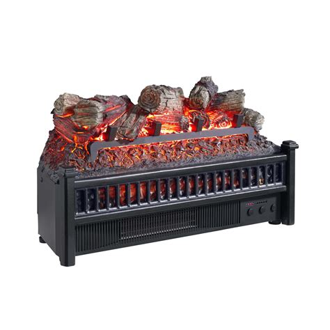 electric fireplace heater lowes shop classicflame 34 1 in