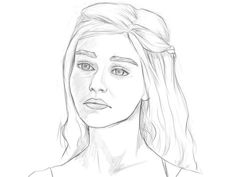thrones coloring book colored pages daenerys sketch by camiiw on deviantart