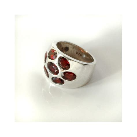 indian silver and garnet ring indian jewelry by pankaj