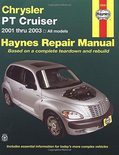 best car repair manuals 2003 chrysler pt cruiser electronic valve timing chrysler pt cruiser 2001 2003 haynes repair manuals at virtual parking store books manuals