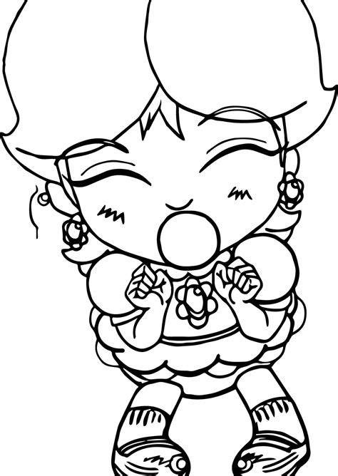 baby daisy bubble gum coloring page wecoloringpage