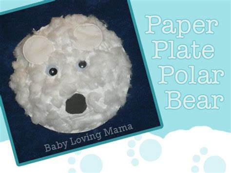 How To Make A Polar Out Of Paper - paper plate polar craft polar winter