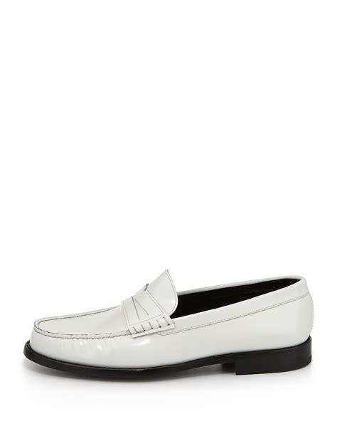 loafers for white laurent classic leather loafer white in white