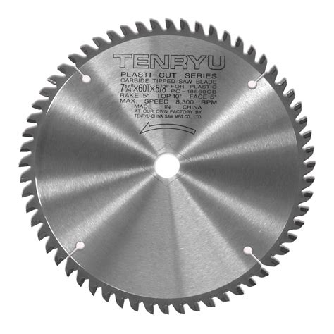 thin kerf saw blade tenryu pc 18560cb plastic cutting thin kerf 7 1 4 quot saw