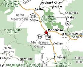 montrose colorado maps mileage information