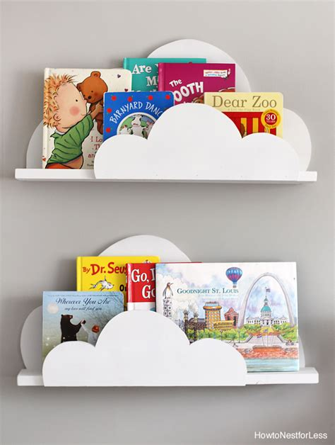 diy cloud bookshelf ledges how to nest for less