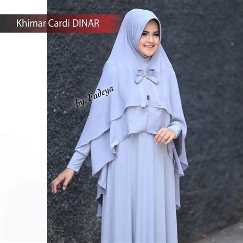 Grosir Murah Dinar Top Wafle dinar khimar cardi by fadeya pusat grosir jilbab modern