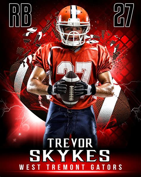 youth sports photography templates sports poster photo template for football shattered football