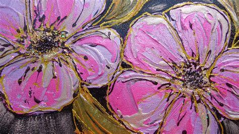 quadri astratti fiori tre fiori viola vendita quadri quadri moderni