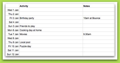 preparing and planning for school holidays planning with
