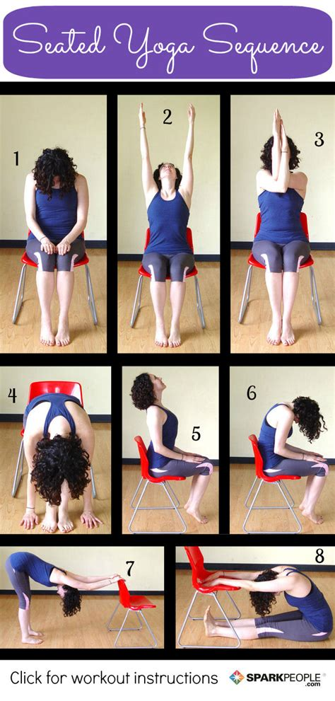 Chair Yoga Routines 8 Seated Yoga Poses You Can Do From A Chair Sparkpeople