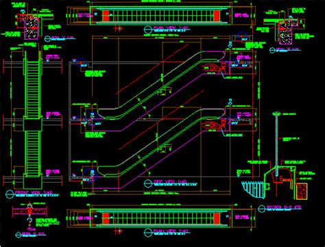 escalator dwg detail  autocad designs cad