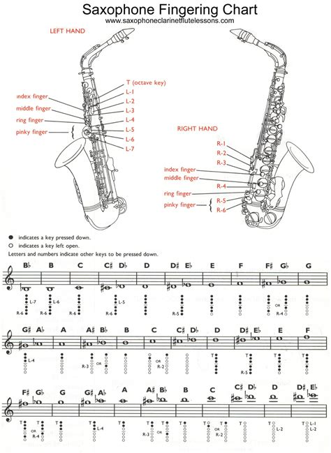 saxophone chart saxophone chart saxophone clarinet and flute